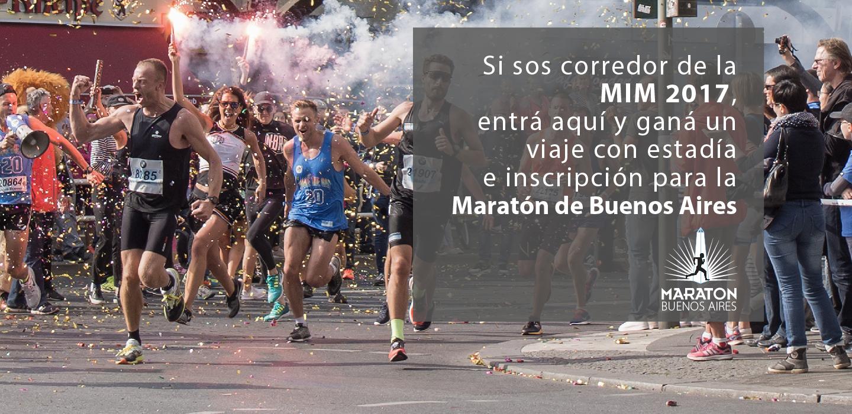 MIM Sorteo Maratón Buenos Aires